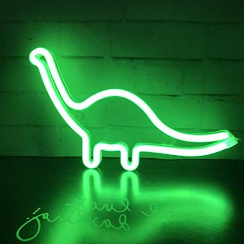 QiaoFei Neon Dinosaur Sign Light,Wall Decor for Party,Kids Room, Wedding