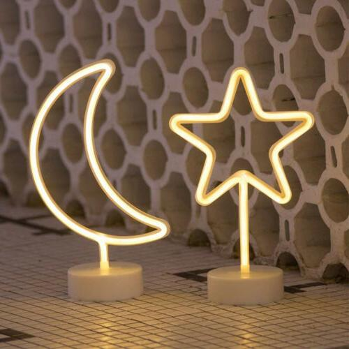 LED Neon Sign Lamp Background Night Light Party Wedding Room