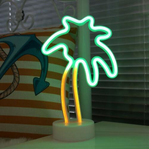 neon light led sign flamingo christmas tree