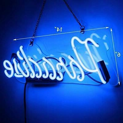 Neon Paradise Sign Neon Handmade Glass Man Cave Signs for G