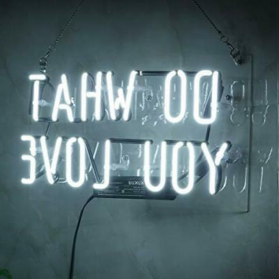 "Neon Light Do What You Love Glass Handmade 12 x 9.8"" …"