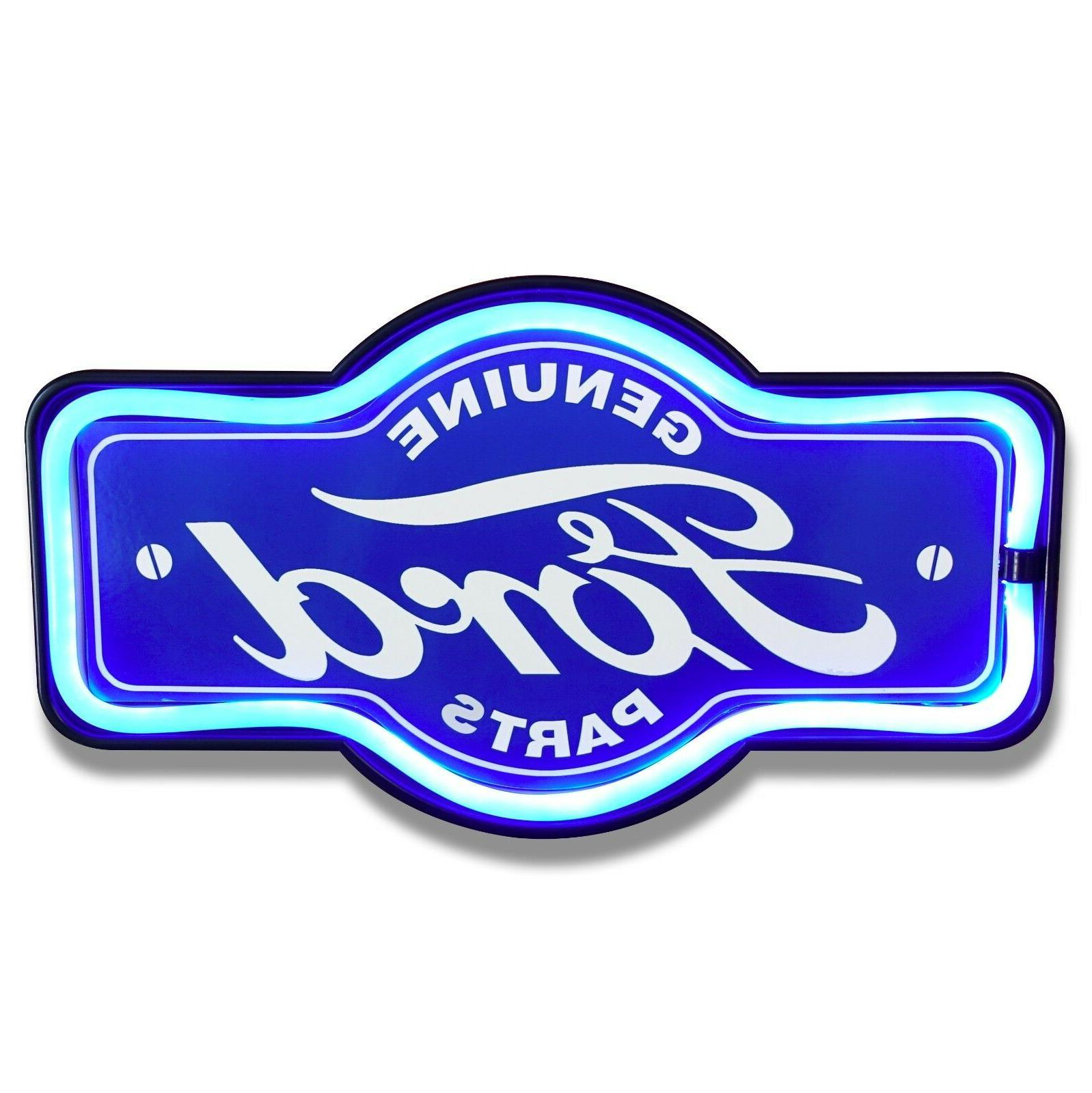 ford neon marquee shaped sign
