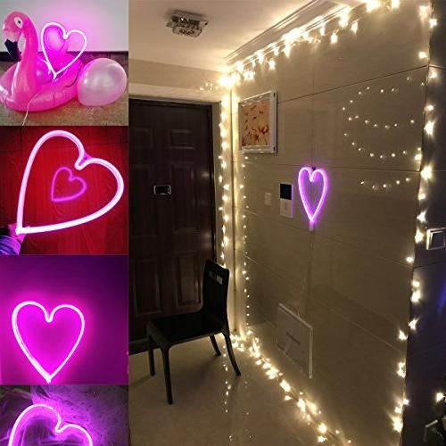 LUCKIEY Neon Neon Lights Wall Bedroom light for Christmas,Birthday,Valentine's Party Decor
