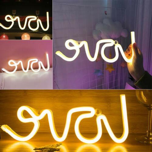 3D Love Light LED Wall Visual Artwork Bar Lamp Home Shop