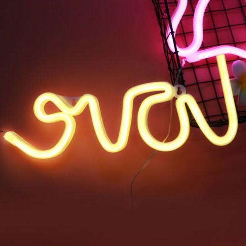 3D Love Neon Light Wall Light Visual Artwork