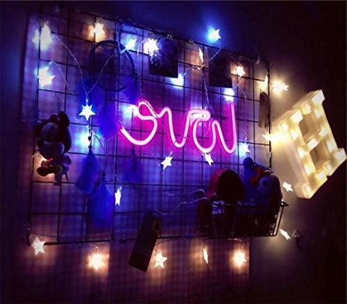 Neon Lights Girls Bedroom House Pub Hotel