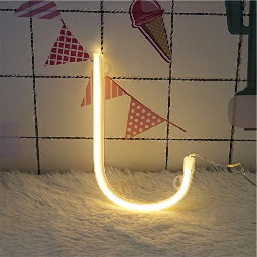 DELICORE Neon Sign Night Neon Lights Wall Decor for Wedding Christmas Home Decoration J