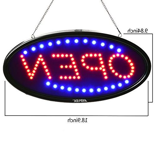 LED 19x10inch Business Sign Advertisement Board Electric Display Flashing & Steady Light, for Shop,