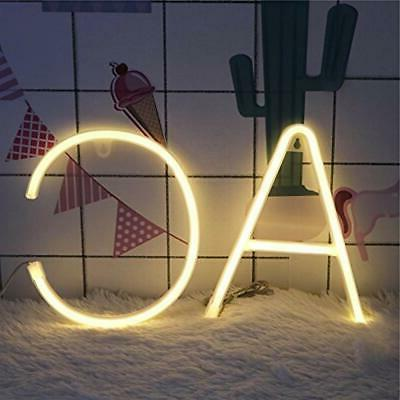DELICORE Neon Signs Night Lights LED Art Decor Words