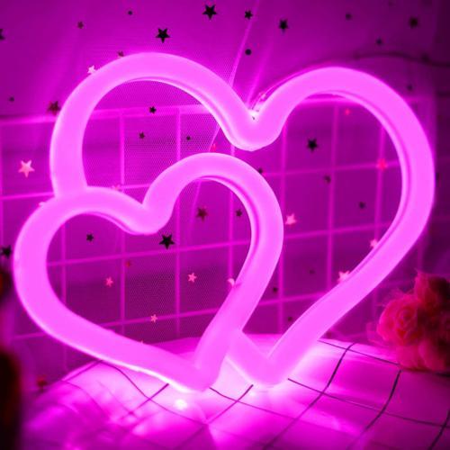 Neon Signs, Neon Heart Lights for Cute Indie Aesthetic Teena