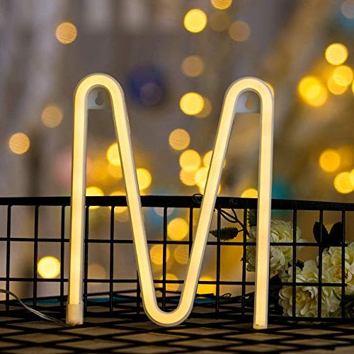 Neon Letter Light LED Neon Wall Children Baby Room Christmas Party Decoration