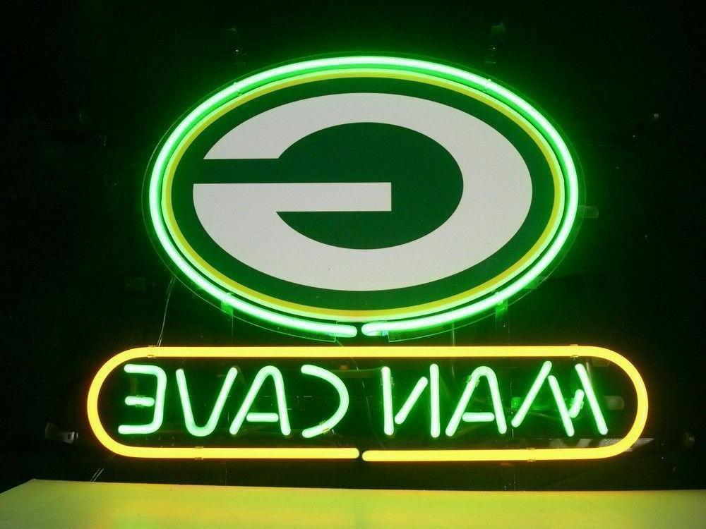 new green bay packers man cave neon