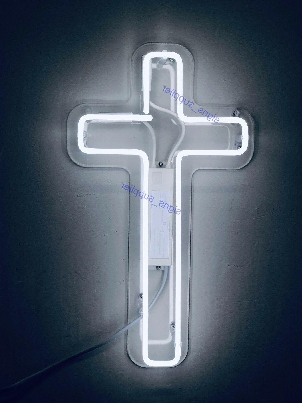 "New Jesus White Neon Sign Acrylic Light Lamp 15""x8"""