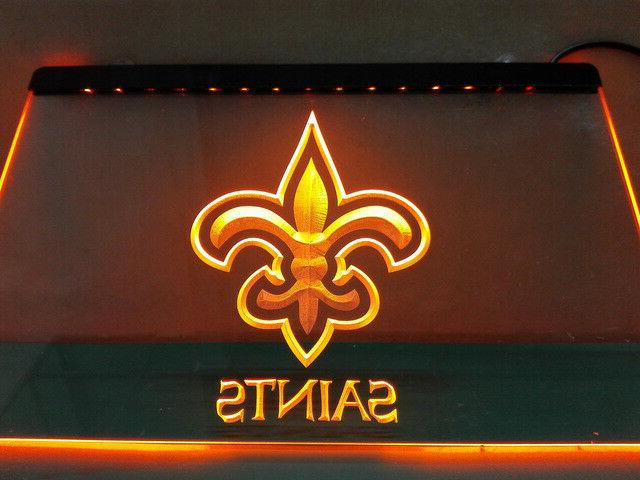 New Orleans Saints YELLOW Neon LED Sign Light Bar Man Cave A