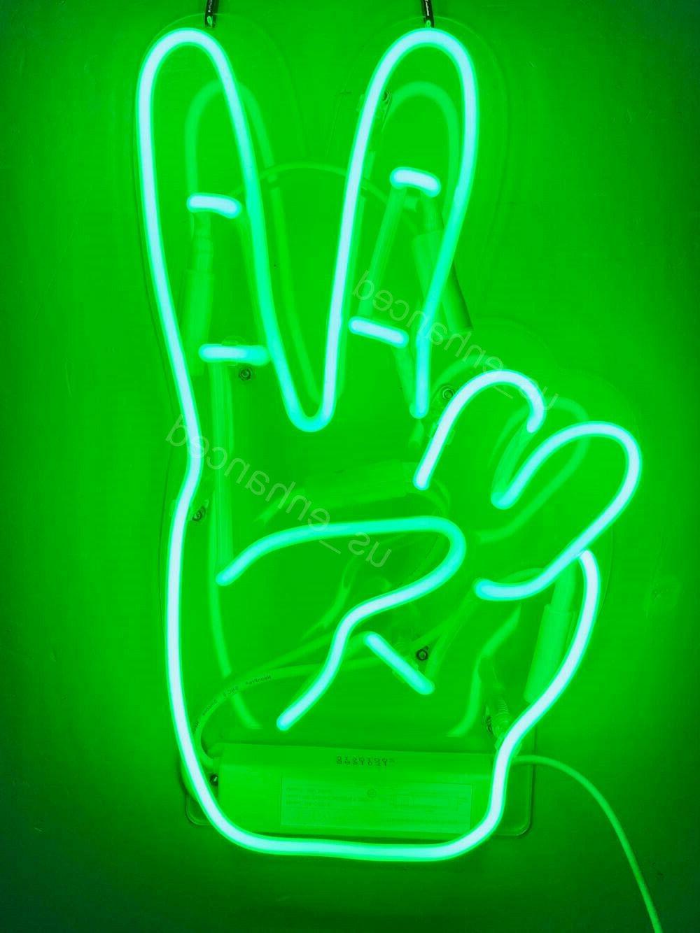 "New Green Neon Gift Wall 14""x10"""