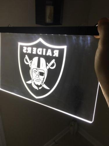 NFL LAS VEGAS RAIDERS LED Neon Sign for Game Room,Office,Bar