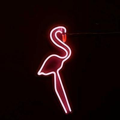 nl17001p flamingo neon light pink flamingo