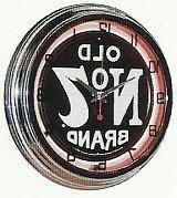 """JACK DANIELS OLD No 7 WHISKEY 15"""" NEON WALL CLOCK SIGN ORANG"""