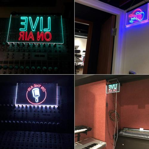 ADVPRO On Air Live Recording Dual LED Neon Sign &