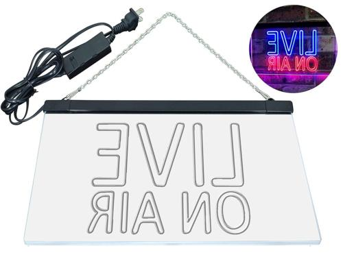 ADVPRO Air Recording Studio Dual LED Neon Sign Blue &
