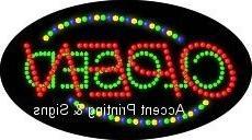 Open Closed Flashing & Animated LED Sign