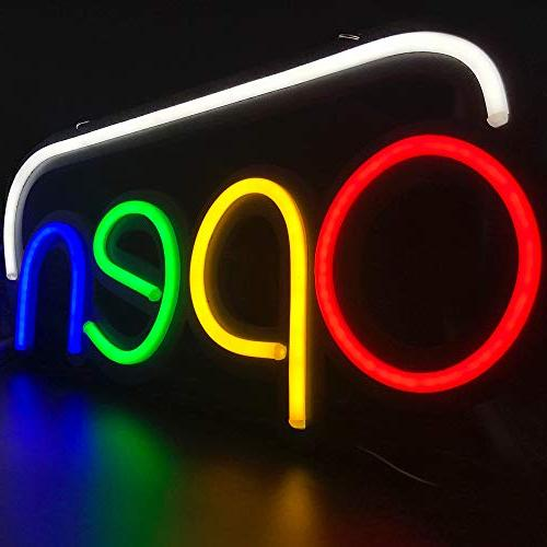 open neon sign light