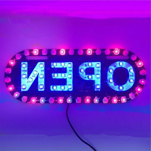 Open Sign Neon LED Light Bulb Handmade Commercial Lighting B
