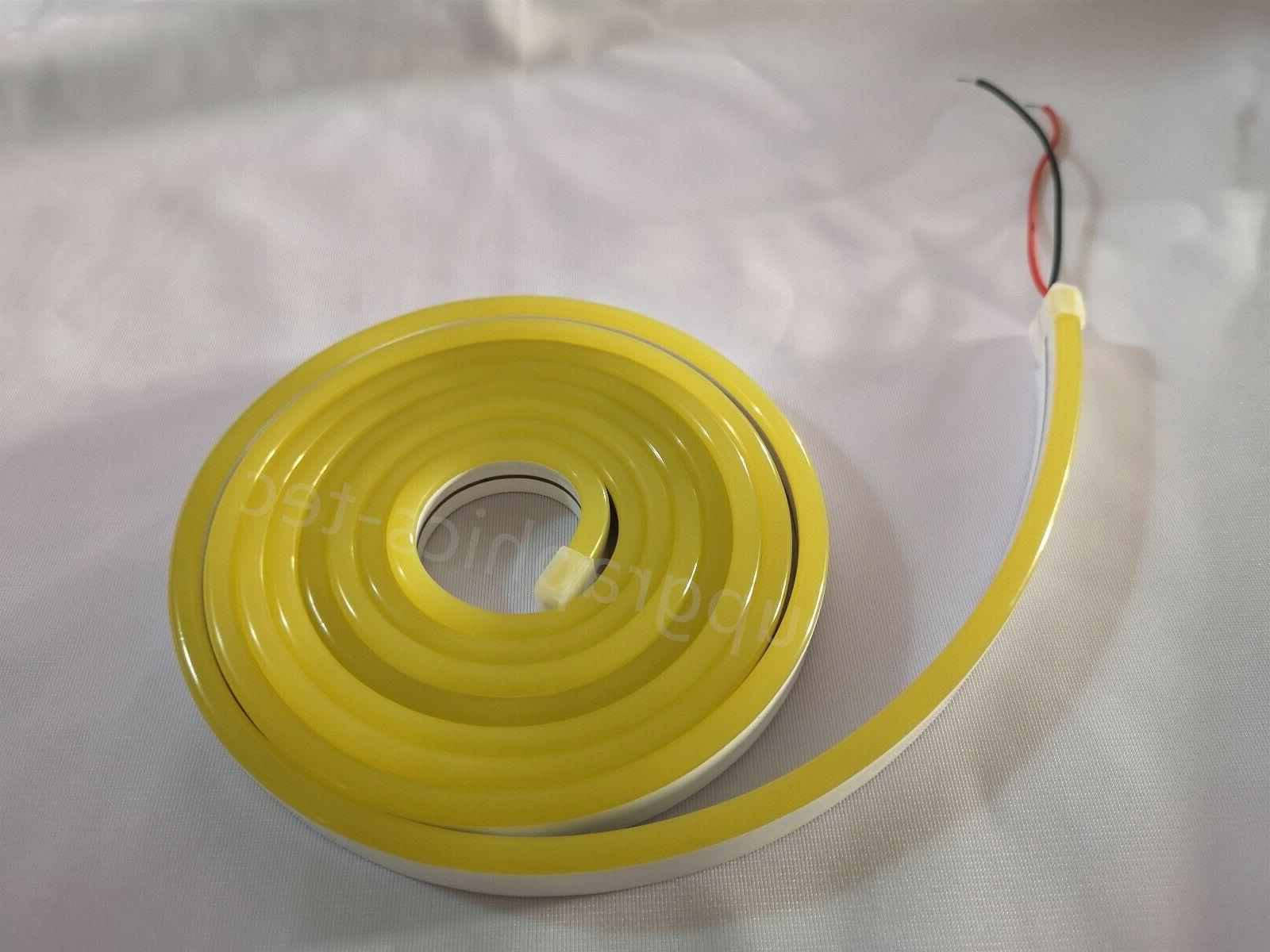 Outdoor Yellow Rope Light Commercial Sign Party DIY DC12V 16ft
