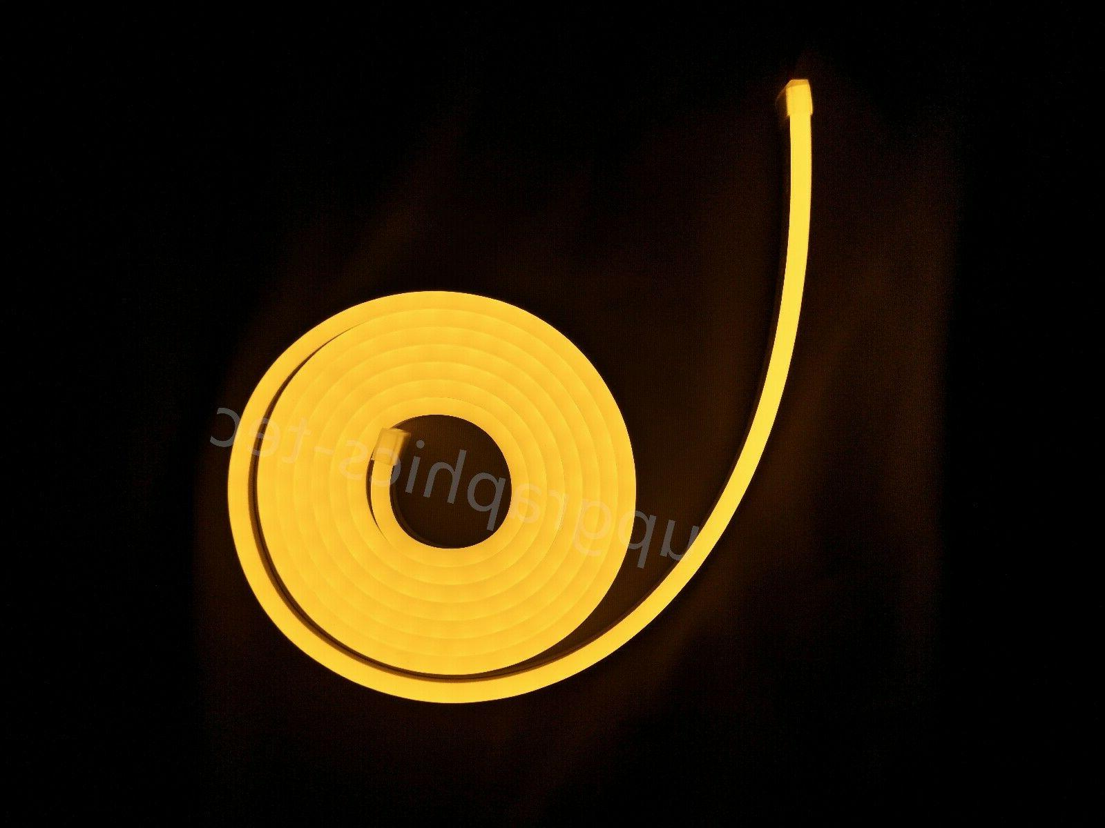 Outdoor Yellow LED Rope Commercial Party DC12V 16ft