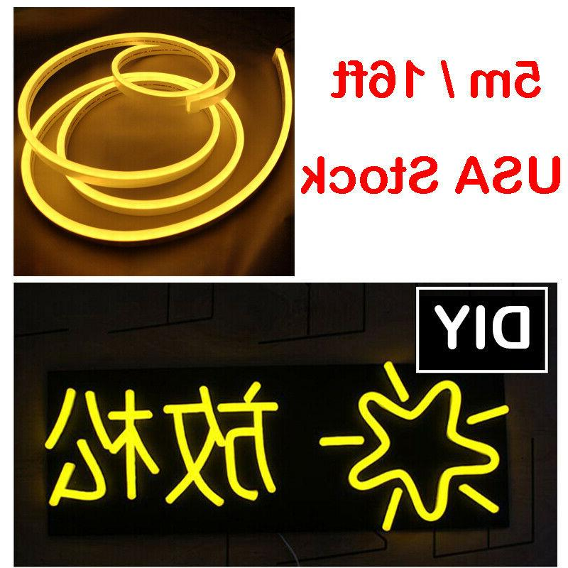outdoor yellow led neon rope light commercial