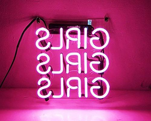 pink handcraft real glass neon