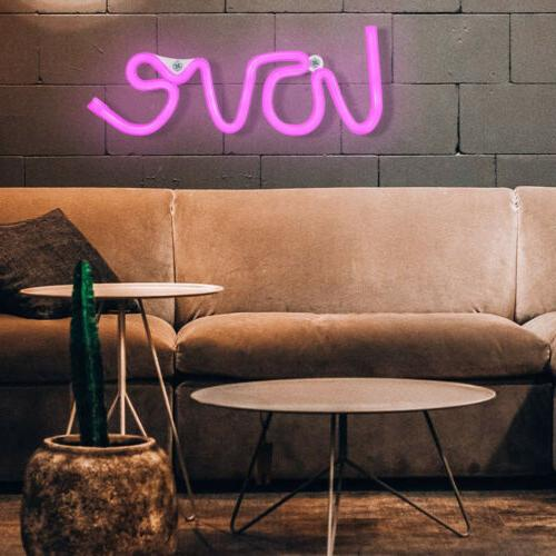Pink Love Night LED Neon Wall for Bedroom