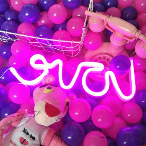 Pink Love Night LED Signs USB/Battery Wall Decor Bedroom