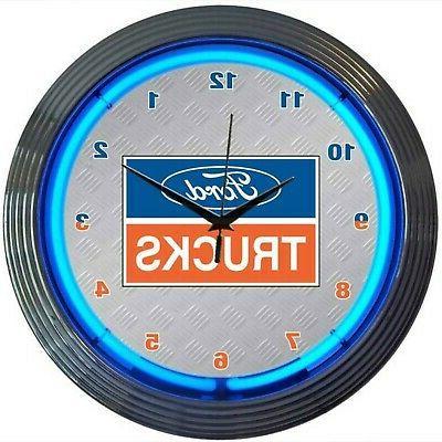 powered neon wall clock