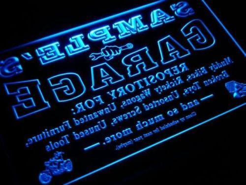 pp-tm Name Personalized Garage Den Repair Neon