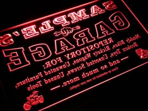 pp-tm Name Garage Neon Sign