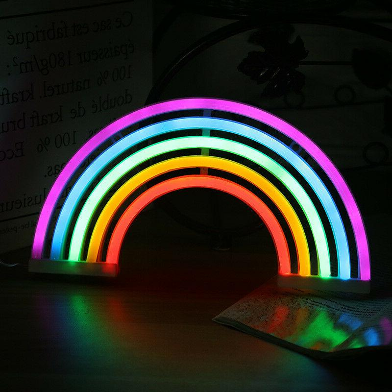 Rainbow Light Lamp Marquee Battery USB Table Ligths Gife
