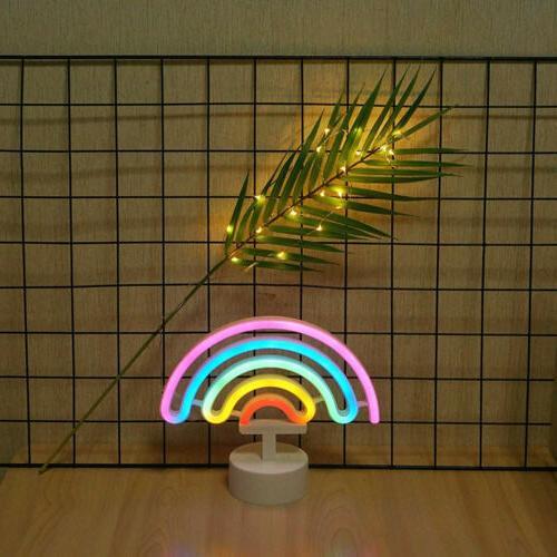 Rainbow Neon with Night Light Decor