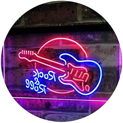 rock and roll electric guitar band room
