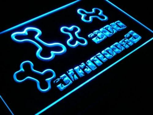 s075-b Dog Grooming Shop Pet Bone Neon Light Sign