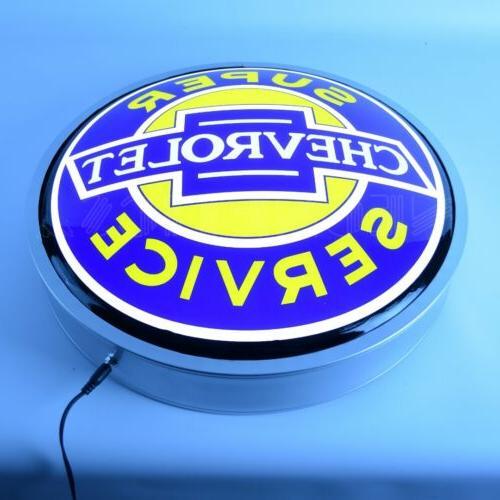 """Super Chevrolet Service Backlit Led Neon Lighted 15""""x15"""""""