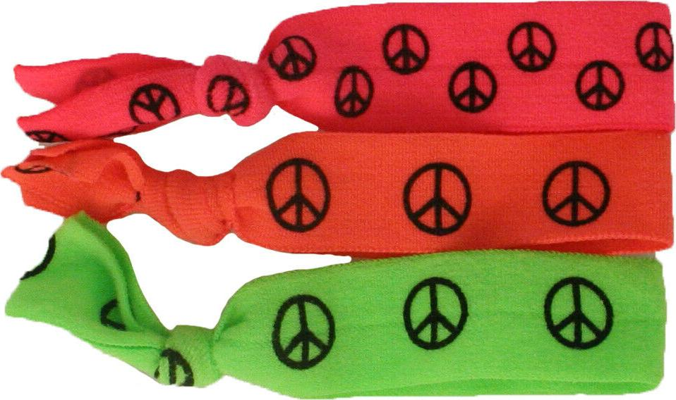 tony ties neon peace sign knotted ribbon
