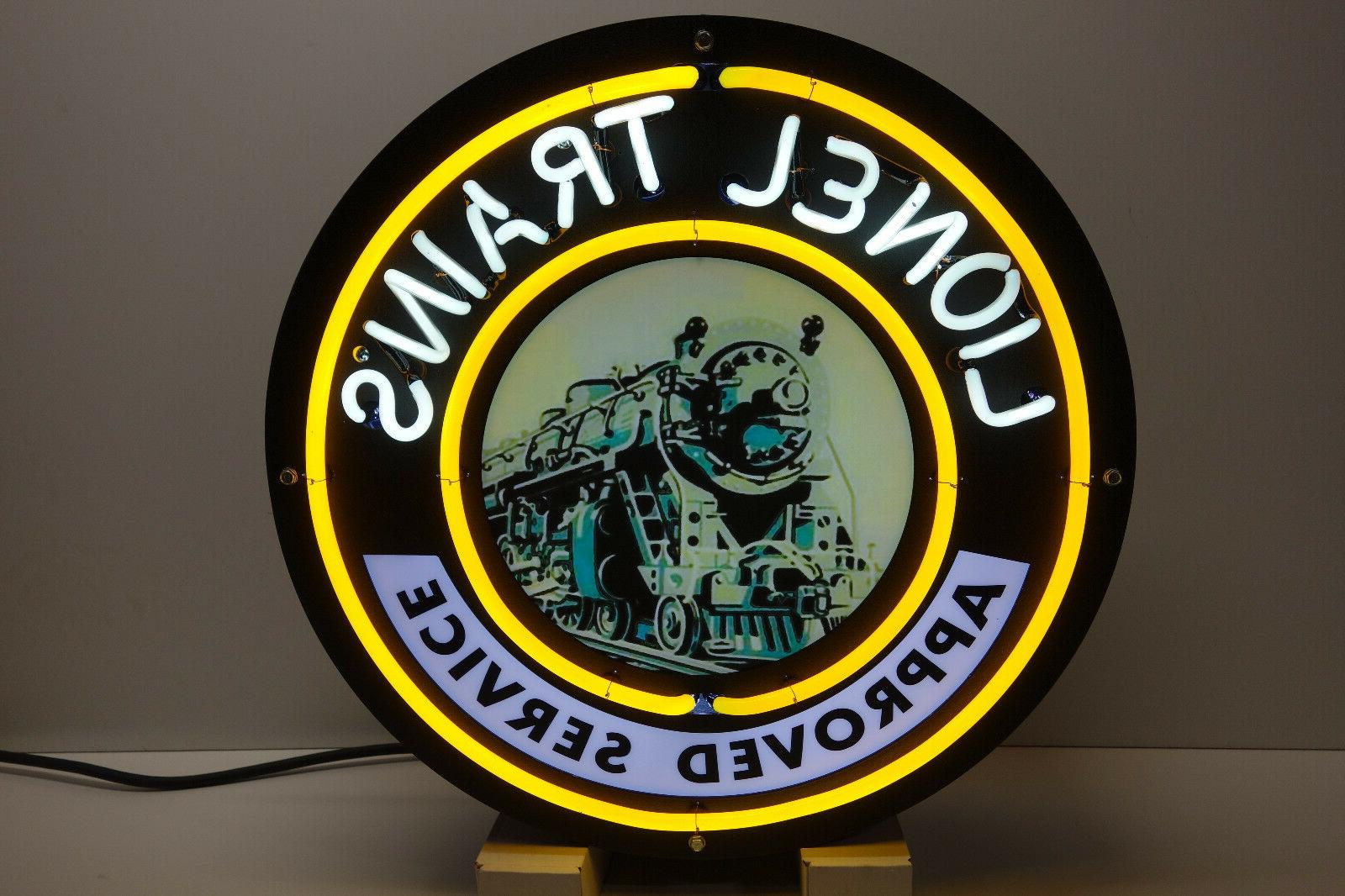 train corporation neon sign for service stations