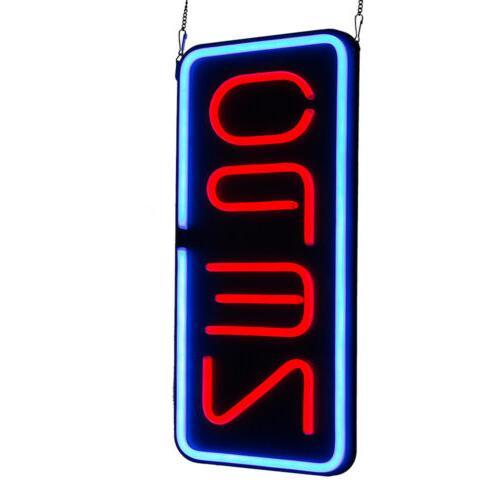 VERTICAL NEON / - SIGNS RESTARAUNT BUSINESS BAR BRIGHT US