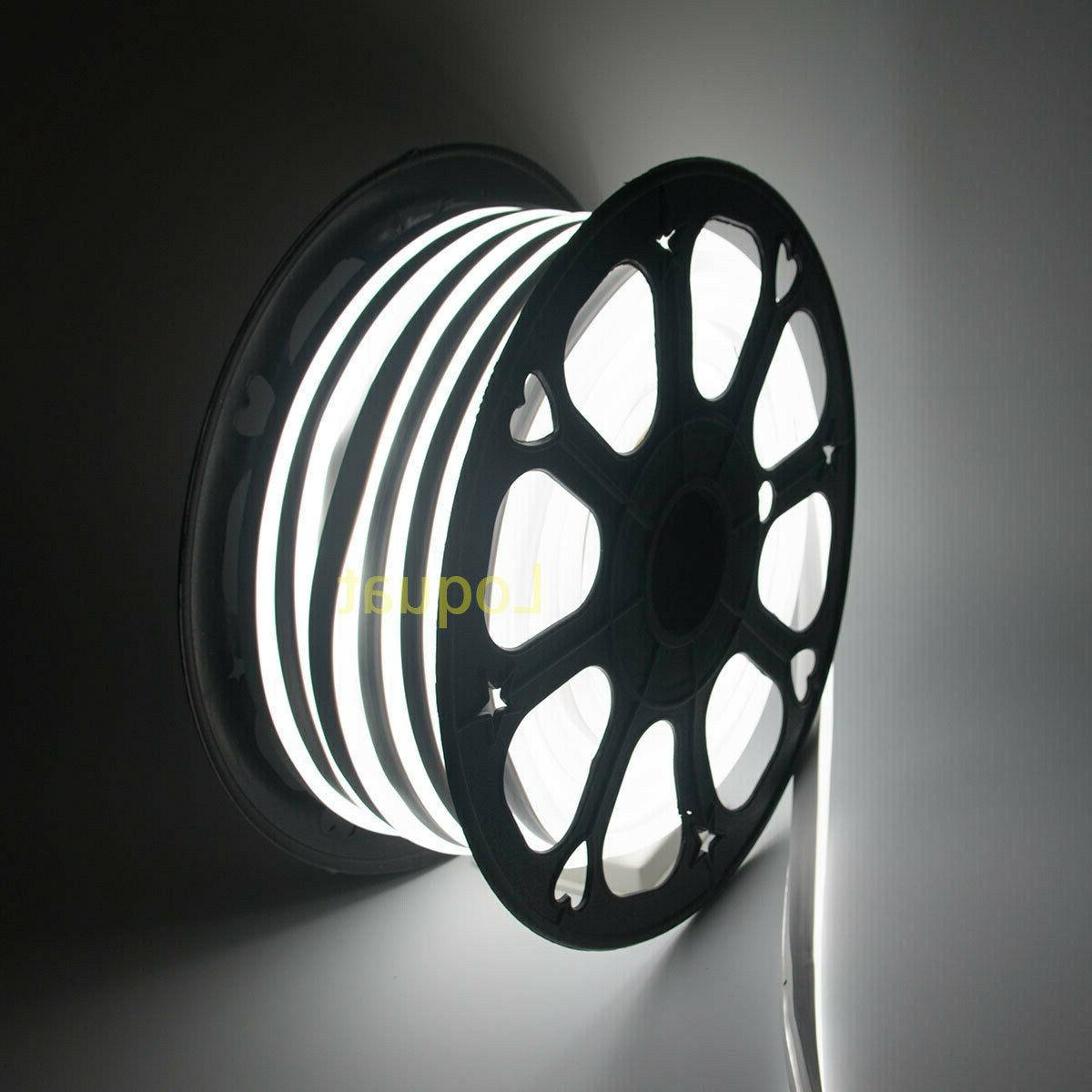 white 150ft 110v led flex neon rope