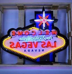 Las Vegas in Steel Can Neon Sign