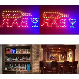 Led Bar Sign - Open Bar Led Neon Motion Light Sign. On/Off W