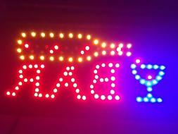 LED Bar Sign - Open Bar Led Neon Motion Light Sign. On/off w