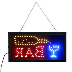 Led Bar signs,Bar Open Sign Led Neon Light Sign Electric Dis