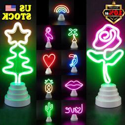 LED Flamingo Lamp Neon Sign Desk Wall Lamp Mini Night Lig